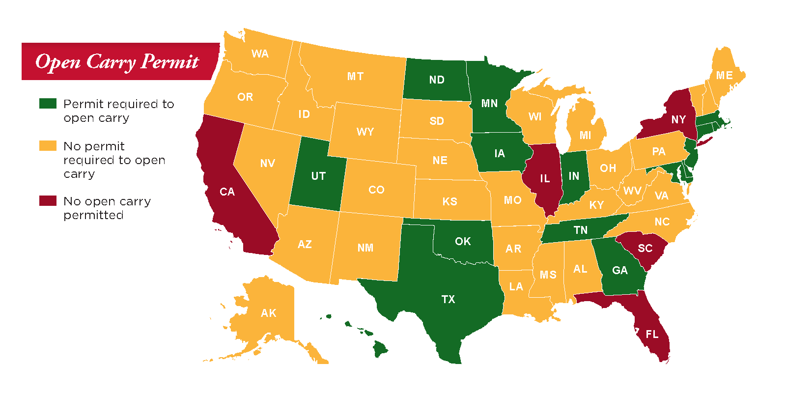 Pistol Permit Open Carry Map